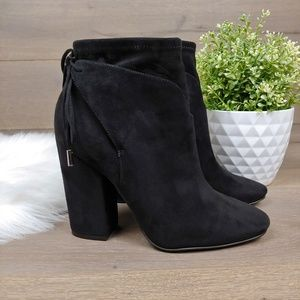 Kendall + Kylie Black Suede Bootie Zola